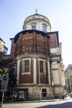 The Chiesa di San Fedele or Church of Saint Fidelis of Como, a Jesuit church in Milan built in Mannerism style.