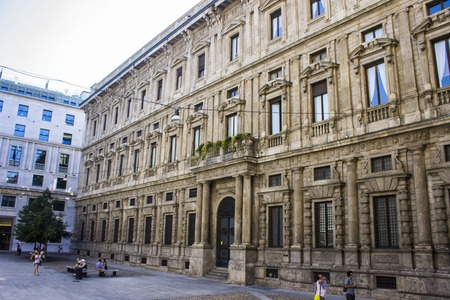 The Palazzo Marino, a 16th-century palace located in Piazza della Scala, in the centre of Milan, Italy. It has been Milans city hall since 9 September 1861