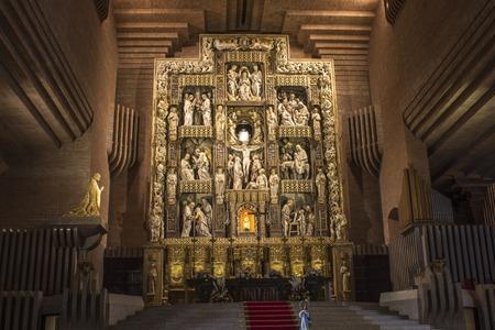 The Santuario de Torreciudad, a Marian shrine in Aragon, Spain, built by Josemaria Escriva, the founder of the Opus Dei.