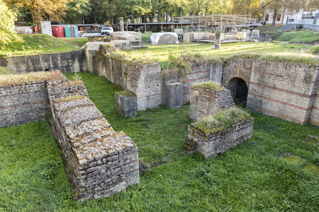 Trier, Germany. The Barbara Baths (Barbarathermen), a large Roman bath complex from the ancient city of Augusta Treverorum. Stock Photo