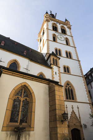 Trier, Germany. St. Gangolfs church, a Roman catholic church dedicated to St. Gangulphus and second oldest church building in the city