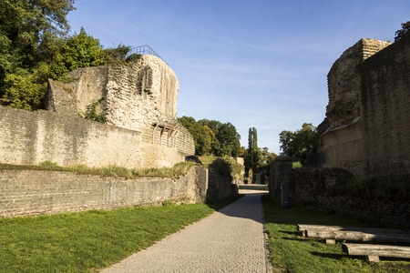 Trier, Germany. The Trier Amphitheater, a large Roman amphitheater from the ancient city of Augusta Treverorum. Stock Photo