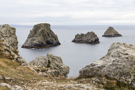 Pointe de Pen-Hir, France, a promontory of the Crozon peninsula in Brittany, to the south-west of Camaret-sur-Mer