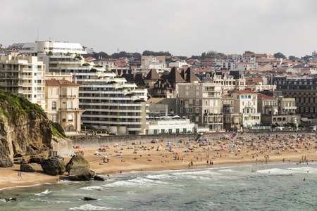 Biarritz, France. Views of the Grande Plage (Long Beach) from the lighthouse