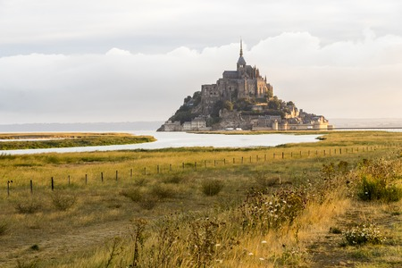 Le Mont-Saint-Michel, France, an island and monastery in Normandy