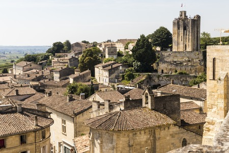 Saint-Emilion, France. Views of the village of Saint-Emilion from the church tower