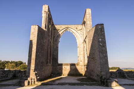 La Flotte, France. The Notre-Dame-de-Re Abbey or Abbaye des Chateliers, an ancient 12th Century Cistercian abbey in the Ile de Re island, now in ruins Stock Photo