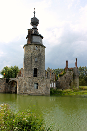 Mons, Belgium. The Chateau dHavre (Havre Castle), a ruined castle in the village of Havre in the town of Mons, province of Hainaut