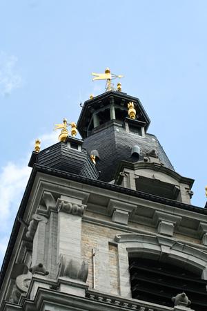 Mons, Belgium. The Belfry of Mons, the only baroque bell tower in Belgium
