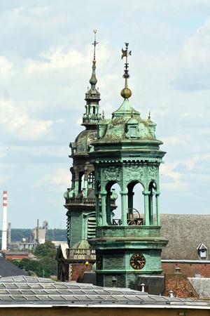 Mons, Belgium. Details of the Hotel de Ville (town hall)