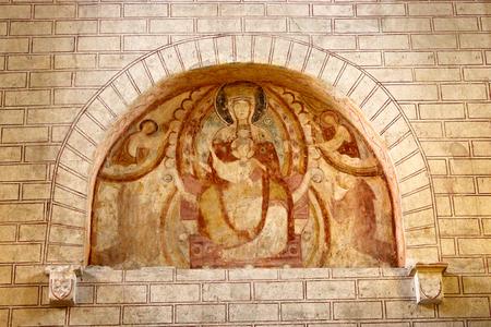 Saint-Savin, France. The Abbey of Saint-Savin-sur-Gartempe, a Roman Catholic church in Poitou, World Heritage Site since 1983