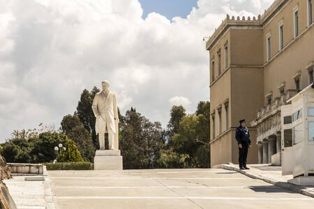 Athens, Greece. Statue of Eleftherios Venizelos,Greek statesman and leader of the Greek national liberation movement, close to the Hellenic Parliament