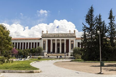 Athens, Greece. The National Archaeological Museum, a museum which contains the richest collection of artifacts from Greek antiquity worldwide 스톡 콘텐츠 - 132982565