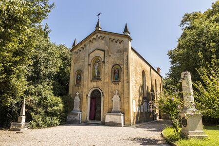 San Martino della Battaglia, Italy. The Ossuary Chapel of St Martin, containing the bodies of the fallen soldiers in the Battle of Solferino