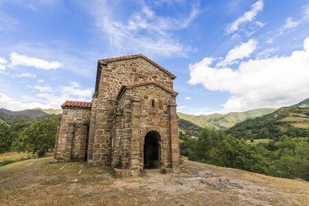Léna, Espagne. L'église de Santa Cristina de Lena, un temple catholique romain pré-romane dans les Asturies. Un site du patrimoine mondial depuis 1998
