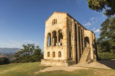 Oviedo, Spain. The Church of Santa Maria del Naranco, a Roman Catholic pre-Romanesque temple in Asturias. A World Heritage Site since 1998