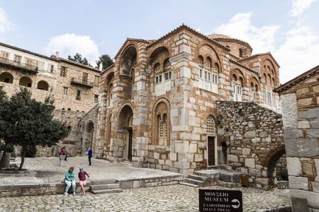 Distomo, Greece. Hosios Loukas, a historic walled monastery, one of the most important monuments of Middle Byzantine architecture and art