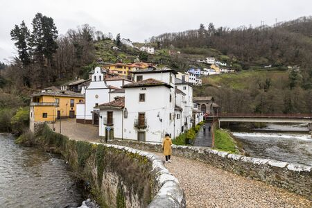 Cangas del Narcea, Spain. Views of the traditional neighborhood of Entrambasaguas, oldest part of the town