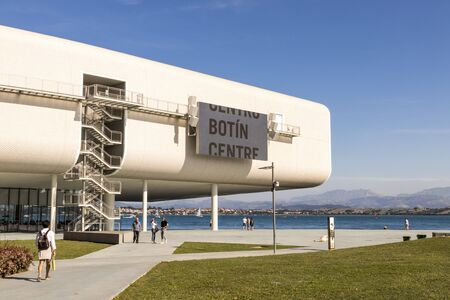 Santander, Spain. The Centro Botin, an art center and museum in Cantabria