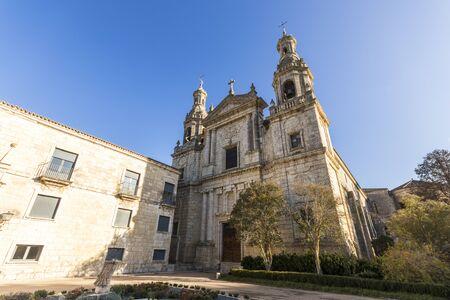 Castromonte, Spain. The Roman Catholic church of the monastery of La Santa Espina (Holy Thorn) 版權商用圖片