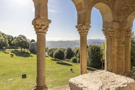 Oviedo, Spain. The Church of Santa Maria del Naranco, a Roman Catholic pre-Romanesque temple in Asturias. A World Heritage Site since 1985