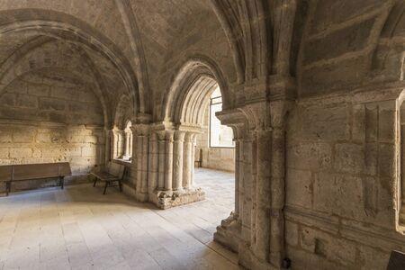 Castromonte, Spain. The Sala Capitular (Chapterhouse) of the monastery of La Santa Espina (Holy Thorn)
