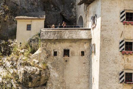 Predjama, Slovenia. The Predjamski Grad or Predjama Castle, a Renaissance fortress near Postojna in the mouth of a cave Editorial