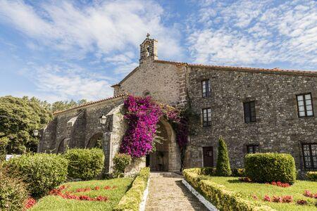 San Vicente de la Barquera, Spain. The sanctuary or chapel of the Virgen de la Barquera 版權商用圖片