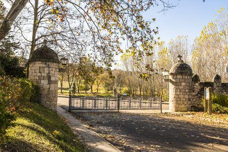 Castromonte, Spain. Defensive walls of the monastery of La Santa Espina (Holy Thorn)