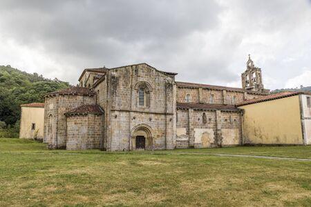 Villaviciosa, Spain. The Santa Maria Monastery of Valdedios, a Roman Catholic pre-romanesque church located in Asturias