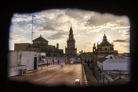 Carmona, Spain. The Iglesia de Santa Maria (St Mary Church), in this town in Andalucia in the province of Sevilla