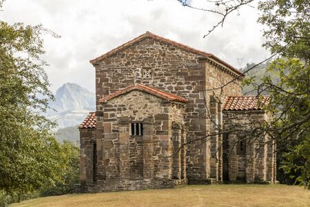 Lena, Spain. The Church of Santa Cristina de Lena, a Roman Catholic pre-Rromanesque temple in Asturias.