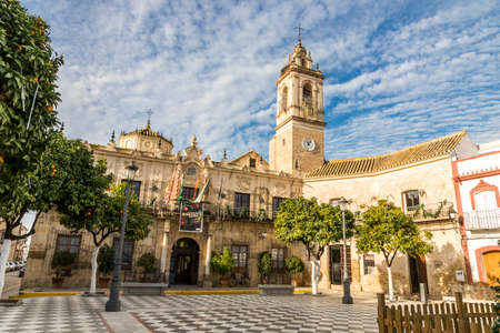 Lora del Rio, Spain. The Ayuntamiento (City Hall) of this town in Andalucia Editorial