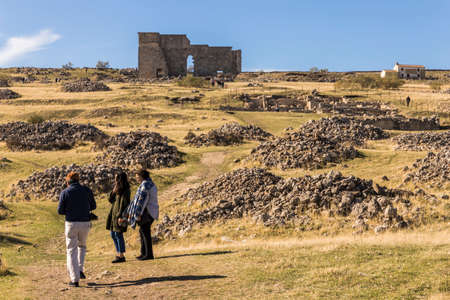Acinipo, Spain. Ruins of the ancient Roman city of Acinipo, near Ronda,