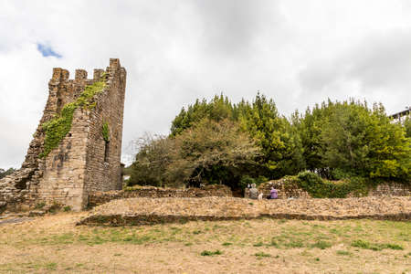 Catoira, Spain. The Torres de Oeste (West Towers), a walled complex of ruined castles in Galicia surrounded by marshes Stock Photo