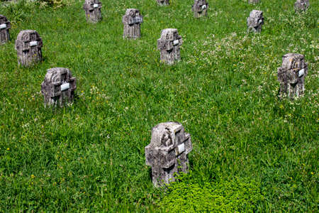 Crespi d'Adda, Italy. The monumental cemetery of this workers' town, a World Heritage Site Editorial
