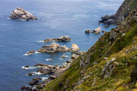 Carino, Spain. Rocks at Cabo Ortegal, a cape in Galicia