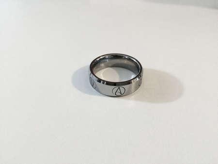metallic: Atheist ring