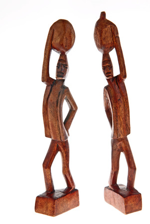 hand carved: Caribbean wooden hand carved art