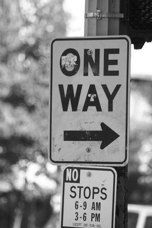 One Way signe  Banque d'images - 613098