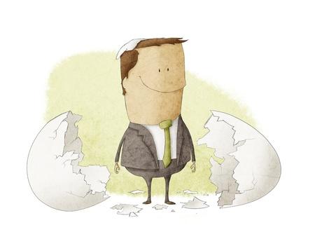 een ondernemer die is geboren uit een ei