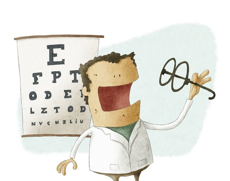 ophthalmologist: Ophthalmologist take glasses