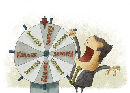Success failure in wheel of fortune