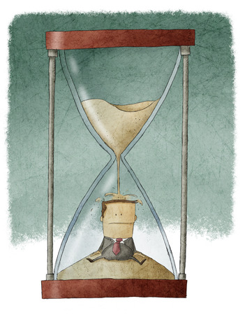 Businessman in hourglass photo