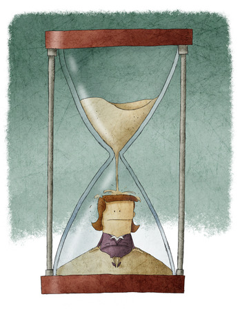 Businesswoman in hourglass