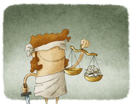 Justicia de la señora Foto de archivo - 28040269