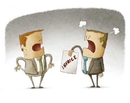 moneyless: Businessman has no money to pay