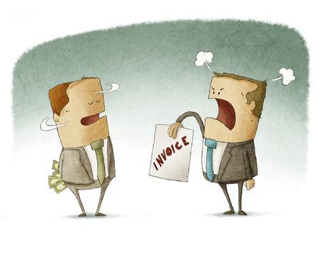 Zakenman verbergen geld betaling Stockfoto