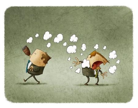 molesto: fumador pasivo toser por el humo de un fumador