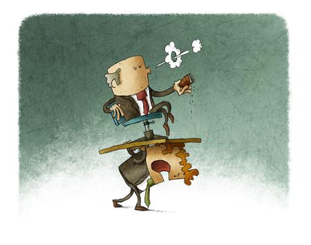 bad leadership: carrying boss